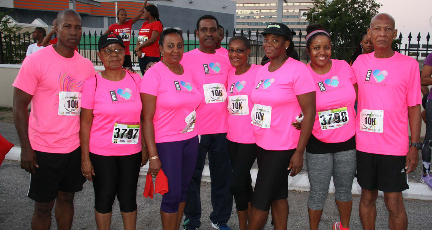 Team Lime at Kingston City Run 2015